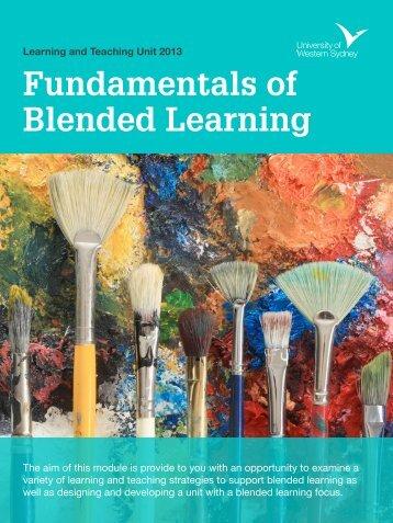 Fundamentals of Blended Learning (PDF, 1437.38 KB)