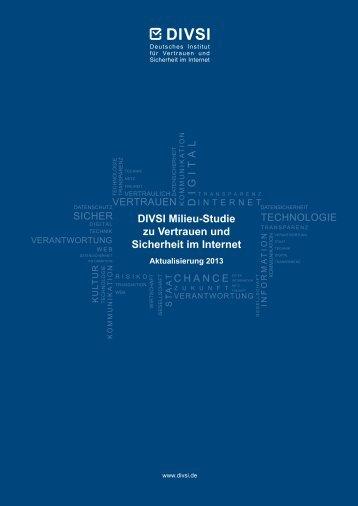 DIVSI Milieu-Studie zu Vertrauen und Sicherheit im Internet