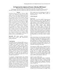 An Empirical Investigation of Factors Affecting ERP Impact