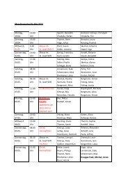 Messdienerplan für Mai 2013 - Pfarrgemeinde St. Martin