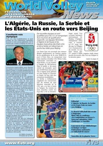 L'Algérie, la Russie, la Serbie et les Etats-Unis en route vers ... - FIVB