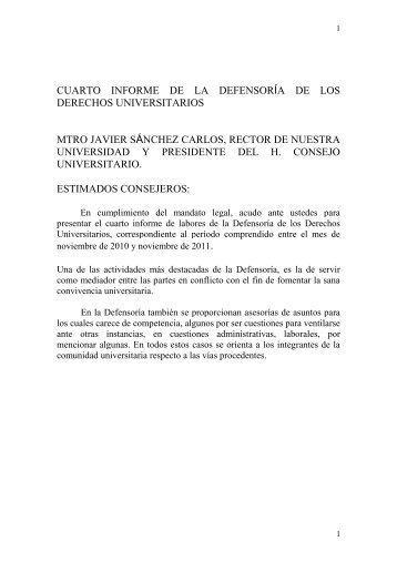 Cuarto Informe - Universidad Autónoma de Ciudad Juárez