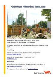 pdf flyer - Abenteuer Hüttenbau Seen