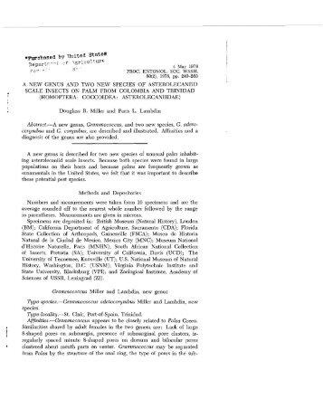 MillerLa1978 - Systematic Entomology Laboratory
