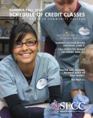 Summer/fall 2010 schedule of credit classes - Santa Fe Community ...