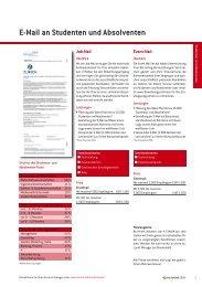 E-Mail an Studenten und Absolventen - Staufenbiel.de