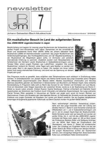 jsbm_newsletter7November2009 - Johann Sebastian Bach ...