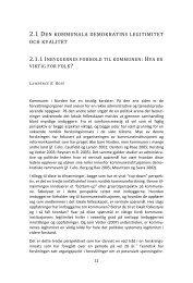2.1 DEN KOMMUNALA DEMOKRATINS LEGITIMITET OCH KVALITET