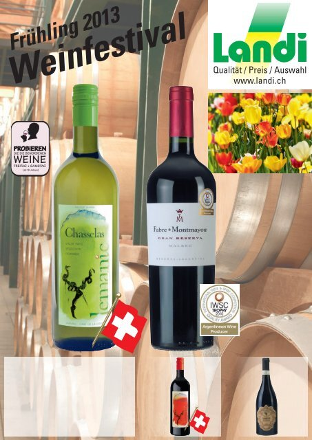 Weinfestival Frühling 2013 (pdf / 3879 KB) - LANDI Jungfrau AG