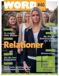 Word #40: Relationer