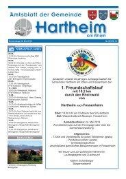 Gemeindeblatt 2013 KW18 - Gemeinde Hartheim