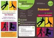 Summer Activities - Voluntary Works