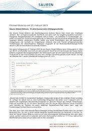 Pressemitteilung vom 27. Februar 2013 - Sauren