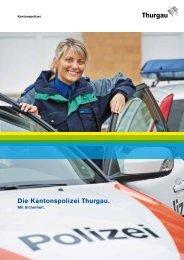 Imagebroschüre Kantonspoilzei Thurgau
