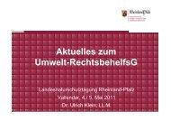 (Dr. Klein) Umwelt-RechtsbehelfsG final - in Rheinland-Pfalz