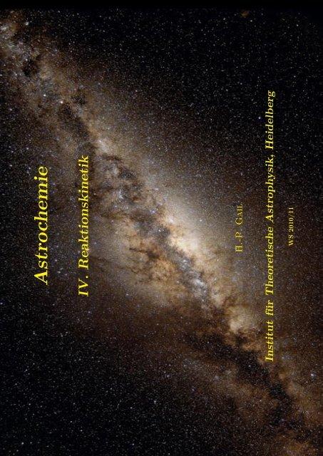 Vorlesung - Institut für Theoretische Astrophysik