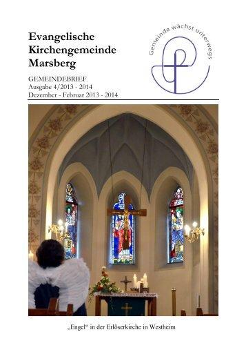 Gemeindebrief 4/2013 Dez-Feb - Evangelische Kirchengemeinde ...