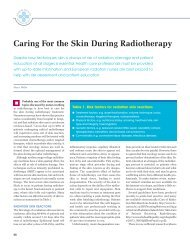 Caring For the Skin During Radiotherapy - the European Oncology ...