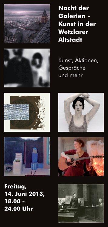 Nacht der Galerien - Kulturstation Wetzlar