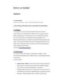 Referat von Smallgirl Epilepsie - Kindergarten-Homepage