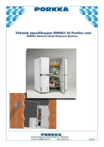 Brosjyre RHDS varmetransportsystem (NO) - PORKKA Norge AS