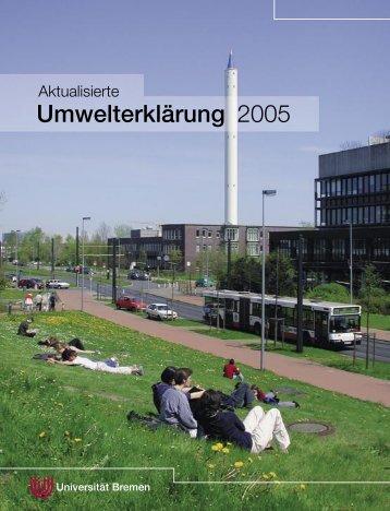 Umwelterklärung 2005 - Ums Uni Bremen - Universität Bremen