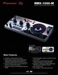 download the rmx-1000-m product sheet - Pioneer DJ