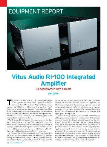 RI-100 Review in TAS 2013_1 - kog audio