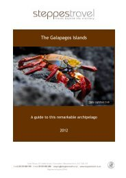 THE GALAPAGOS ISLANDS - Steppes Travel