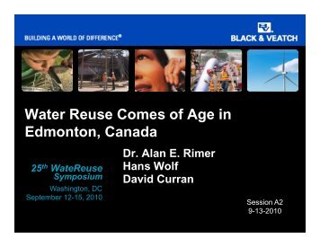 Water Reuse Comes of Age in Edmonton, Canada - WateReuse ...