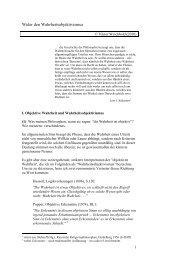 Wider den Wahrheitsobjektivismus - Viktor Wolfgang Weichbold