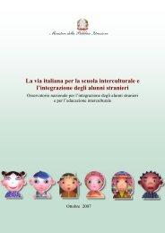 La via italiana per la scuola interculturale e l'integrazione degli ...