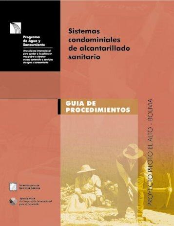 Sistemas condominiales de alcantarillado sanitario - Agua Latina
