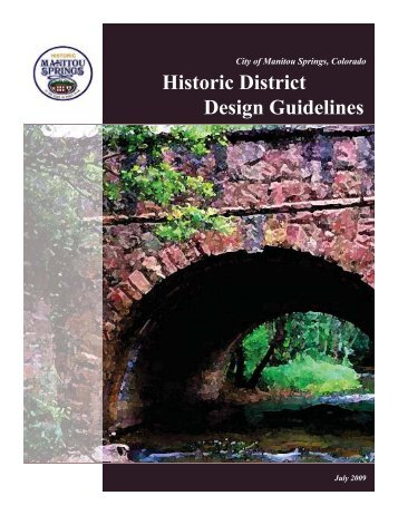 Historic District Design Guidelines - City of Manitou Springs