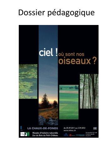 Dossier pédagogique - Ville de La Chaux-de-Fonds