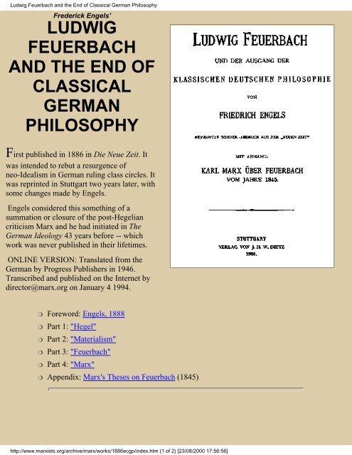 karl marx philosophy
