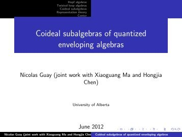 Coideal subalgebras of quantized enveloping algebras