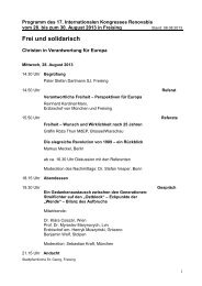2013 Internationaler Kongress Programm dt. - Renovabis