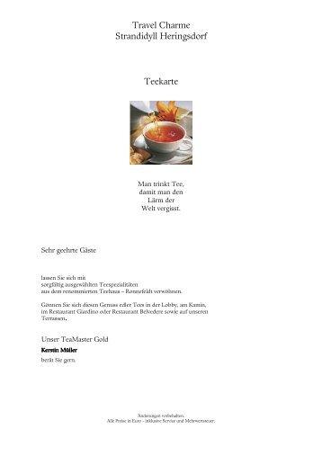 Teekarte für Fr Lipke
