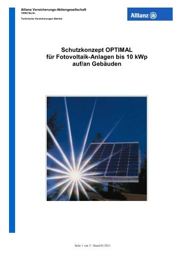 PV-Schutzkonzept OPTIMAL bis 10 kWp_ AO Stand ... - Global Energy