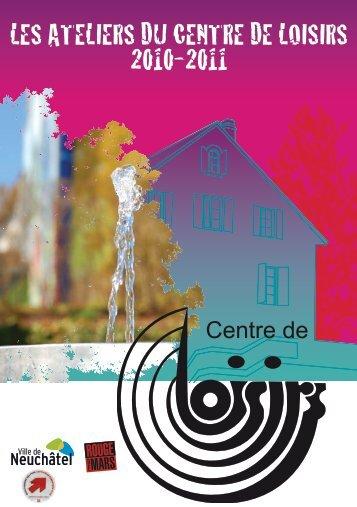 Conditions générales des ateliers - Centre de Loisirs de Neuchâtel