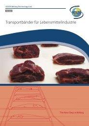 Transportbänder für Lebensmittelindustrie