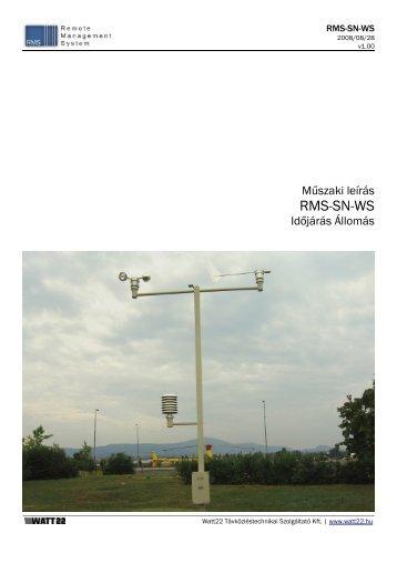 RMS-SN-WS - Időjárás Állomás - Watt22 Kft