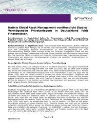 Natixis Global Asset Management veröffentlicht Studie ...
