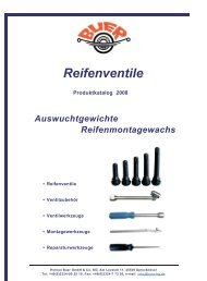 Reifenventile Produktkatalog 2008 - Helmut Buer GmbH & Co. KG