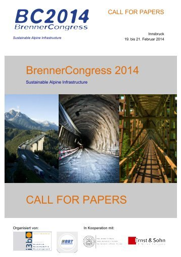 BrennerCongress 2014 CALL FOR PAPERS