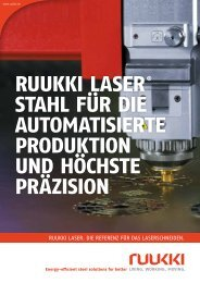 Ruukki LaseR ® stahL füR die automatisieRte PRoduktion und ...