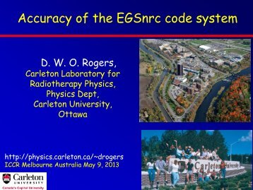 Accuracy of the EGSnrc Monte Carlo Code System