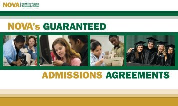 ADMISSIONS AGREEMENTS 's GUARANTEED