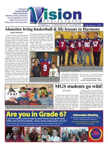 Are you in Grade 6? - Howard S. Billings Regional High School